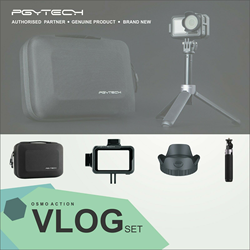 PGYTECH OSMO ACTION Vlog Set (Carrying Case&Cage&Lens Hood&Extension Tripod)