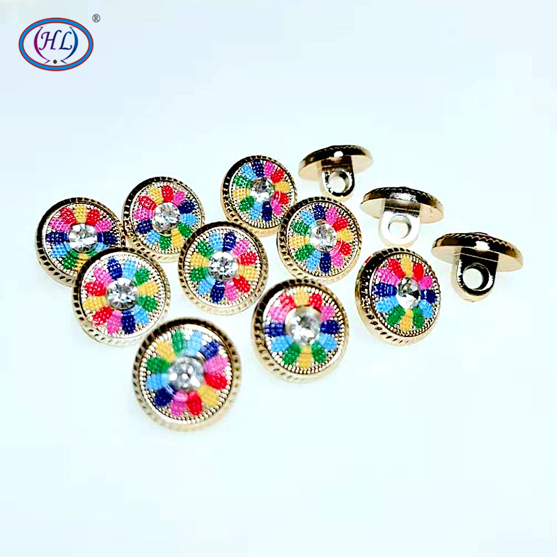 HL 30/50/150PCS 12MM New Plating Buttons With Rhinestones Shank DIY Apparel Sewing Accessories Shirt Buttons|Buttons| - AliExpress