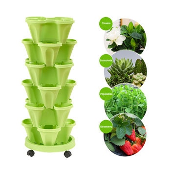 Stereo-scopic Stackable Vertical Plant Pot