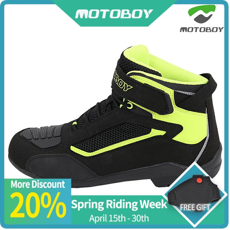 Motoboy Motorrad Hohe Ankle Racing Weiche Nicht-slip Schutzhülle Bikes Rennen Motocross Motorrad Speed Motocross stiefel Schuhe