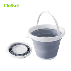 Image 1 - 10L Portable Folding Bucket Outdoor Fishing Tourism Camping Supplies Foldable Buckets Car/ Mop Washing Cleaning Household Items