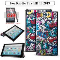 Pokrowiec na tableta do amazon kindle fire HD 10 9. Generacji 2019 pokrowiec na kindle fire HD 10 2019 funda Capa + film