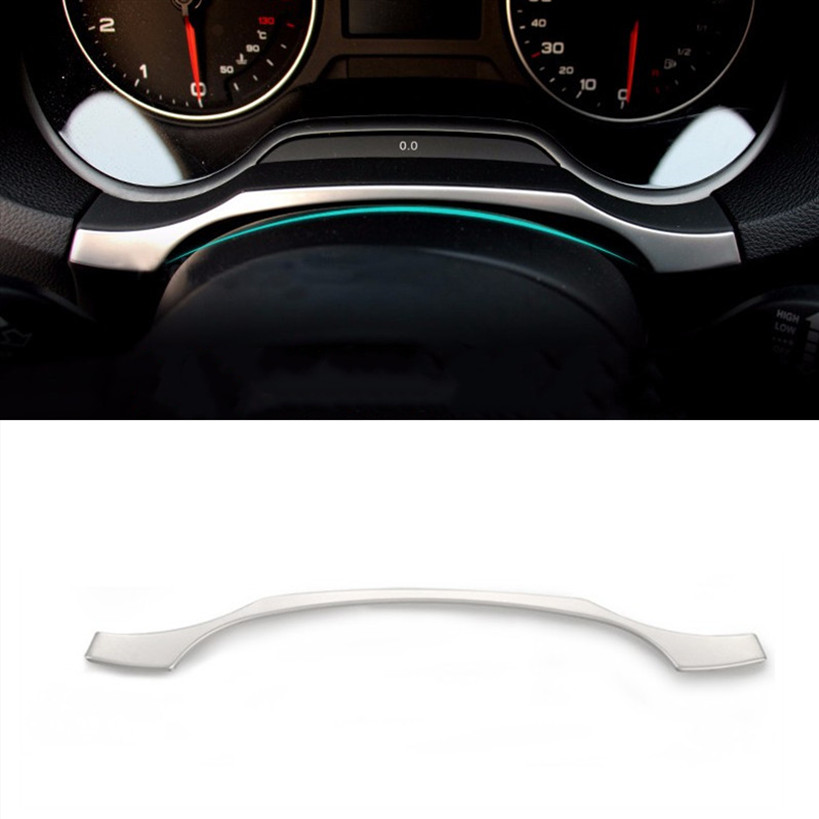 Car Styling Dashboard Trim Ring Decoration Frame Sticker For <font><b>Audi</b></font> <font><b>A3</b></font> <font><b>8V</b></font> <font><b>Sedan</b></font> Sportback 2013-17 Interior Stainless Steel Strips image