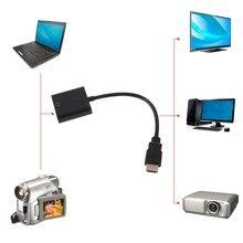 HDMI to VGA Adapter цифро аналоговые аудио и видео кабель преобразователя HDMI VGA разъем для PS4 портативных ПК Chromebook ТВ коробка