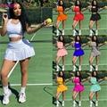 Женский теннисный костюм Adogirl, модный пикантный укороченный топ, шорты, юбка, комплект из двух предметов, облегающий спортивный костюм, спор...