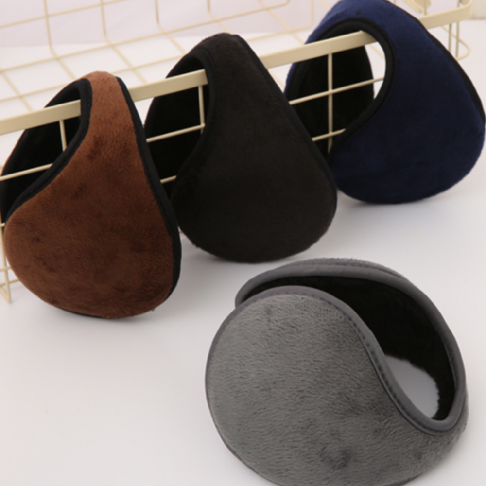 New Unisex Solid Winter Earmuffs Women Men Ear Cover Protector Thicken Plush Soft Warm Earmuff Warmer Gift Apparel Accessories