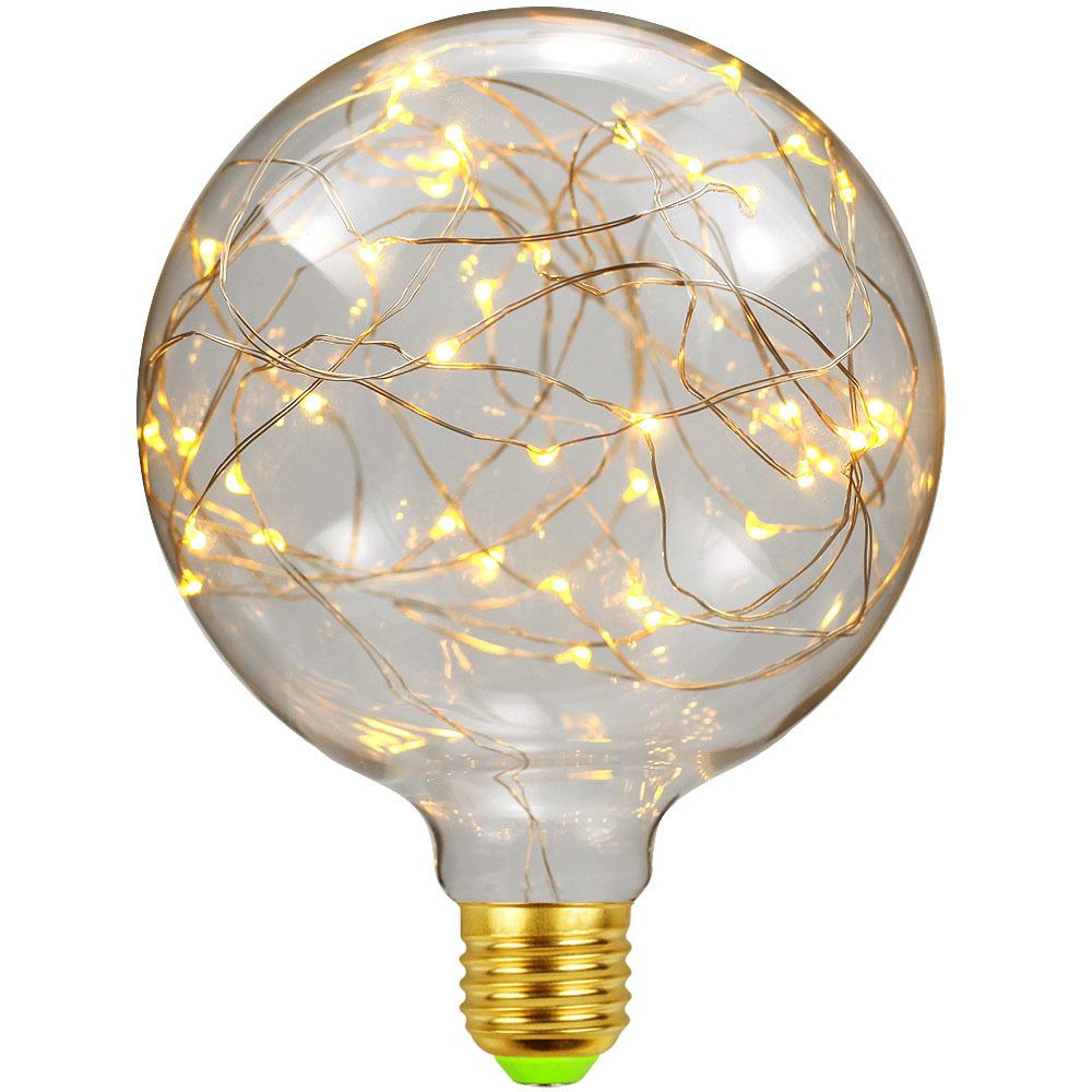 Led Light Bulbs 3D Decoration Bulb Holiday Lights LED copper wire filament 1.5 W energy-saving Lamp For Home Decor image