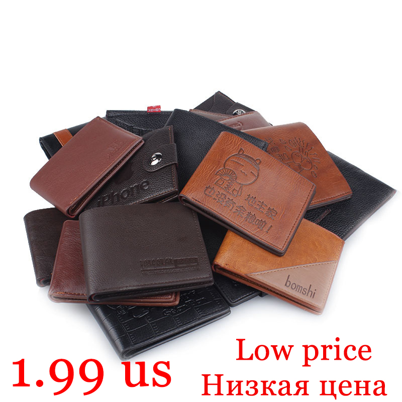 Top 2019 Ultra-thin Short Men Wallets Low Price Coin Bag Roomy Purse Man Wallet Male Small Money Dollar Slim Cool Card Case