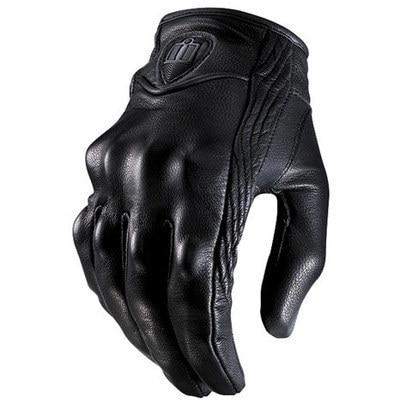 Сенсорный экран значок кожаные перчатки мотогонок всадник оснащен мотоциклетными перчатками зима все относится к анти-Осенние перчатки