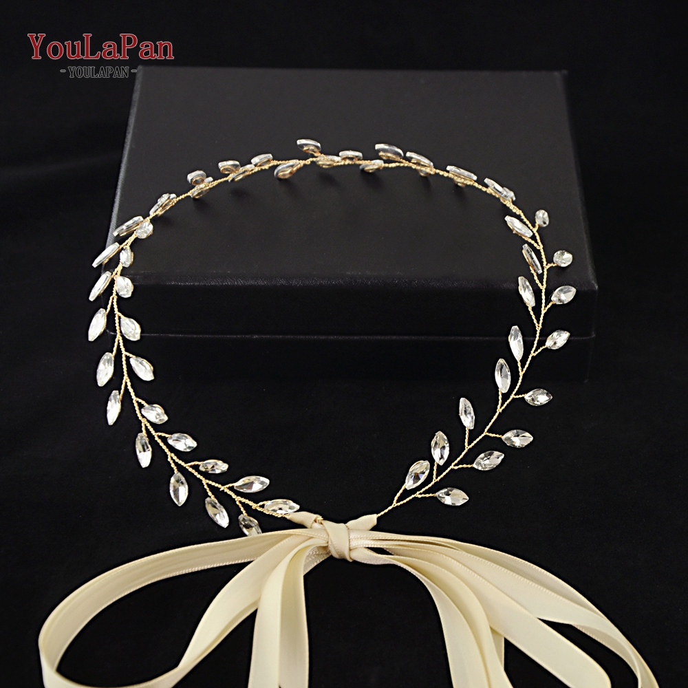 YouLaPan Wedding Belt Bridal Belts With Crystal Wedding Sash For Party Wedding Sash Vine Wedding Accessories Thin Belts SH48-G