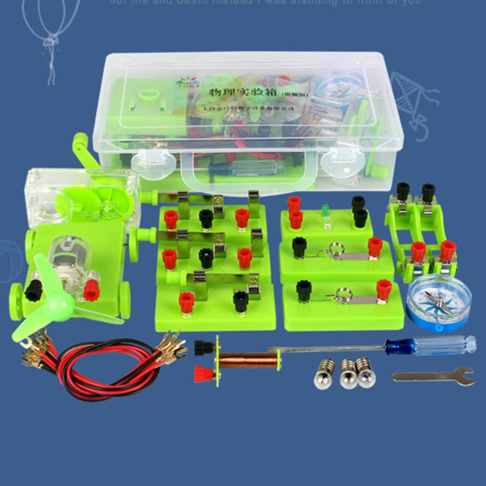 Physics Experiments Basic Circuit Electricity Magnetism Learning Kit Science Experiment Kids Experiment Aids Education Toy Gift