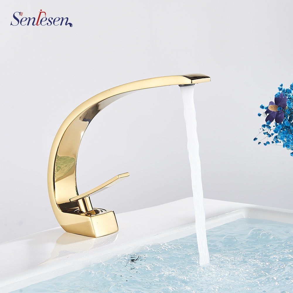 Senlesen Bathroom Faucet Ceramic Valve Cold and Hot Water Mixer Tap Single Handle Vanity Sink Basin Senlesen Bathroom Faucet Ceramic Valve Cold and Hot Water Mixer Tap Single Handle Vanity Sink Basin Faucets