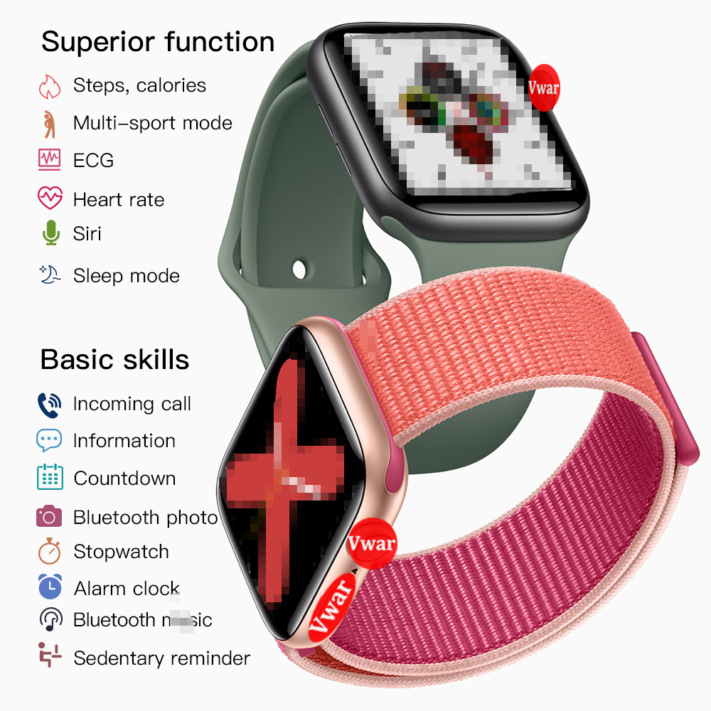 IWO 12 Pro для мужчин серии 5 Смарт часы 1:1 44 мм Чехол IP68 Wtaerproof для Apple IOS Android телефон IWO 11 IWO 8 10 Обновление Smartwatch - 2
