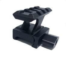 Tactical Riser mount Rail Base QD Lockdown Series Lightweigh 3 Slot 20mm Picatinny Rail Weaver Adapter picatinny rail for g36 g36c series black