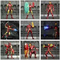 Iron Man Action Figure Mark 85 and Mark 50 Armors with LED Weapons 6inch 2