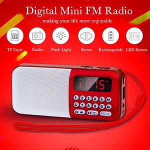 Image 5 - Altavoz inalámbrico portátil con Radio FM y tarjeta TF, reproductor de Radio, MP3, Mini Radio FM con conector para auriculares