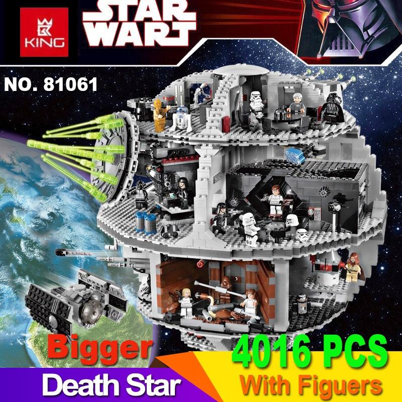 Death Star 05063 4016 pièces bloc de construction Wars TIE Fighter briques compatibles lepinglys 10188 75159 jouets éducatifs pour enfants cadeaux