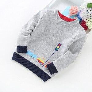 Image 2 - 2020 ילד חדש ילדי בגדי מכוניות דפוס סרוג סוודר תינוק ילד בסוודרים סוודר סריגי 2 5T ילדים ילדים סוודרים