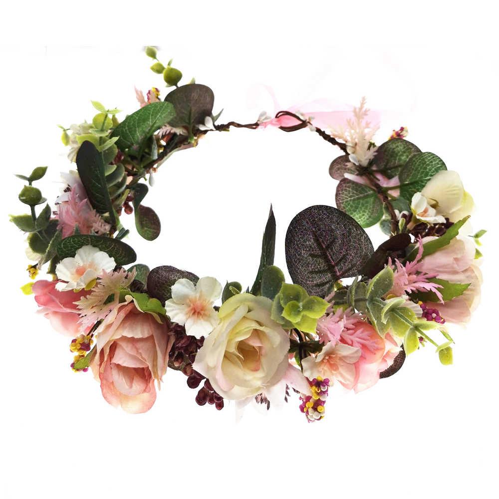 Handgemachte Verstellbare Boho Blumen Stirnband Haar Kranz  Garland