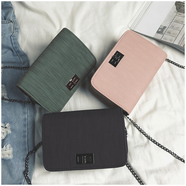 2019 new fashion cloth small square bag Korean version solid color simple