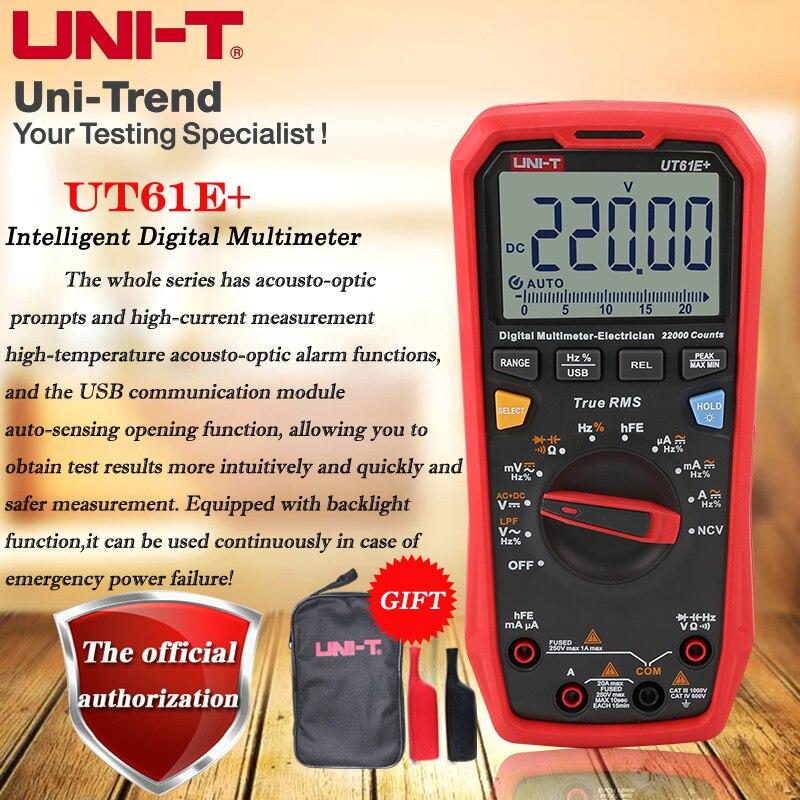 UNI-T UT61B  UT61D  UT61E  True RMS Intelligent Digital Multimeter High-precision Electrician Digital Multimeter