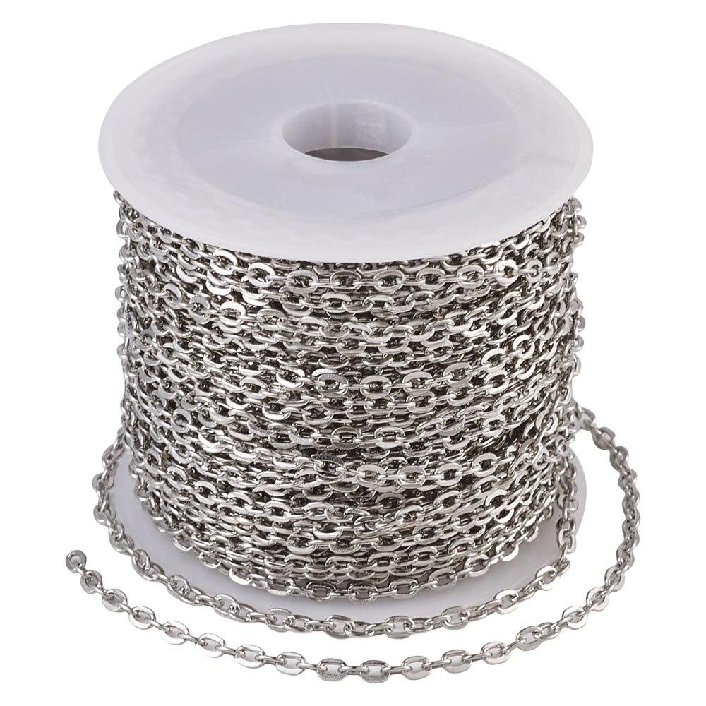 Металлическая цепочка pandahall 10 м цвет серебро золото античная