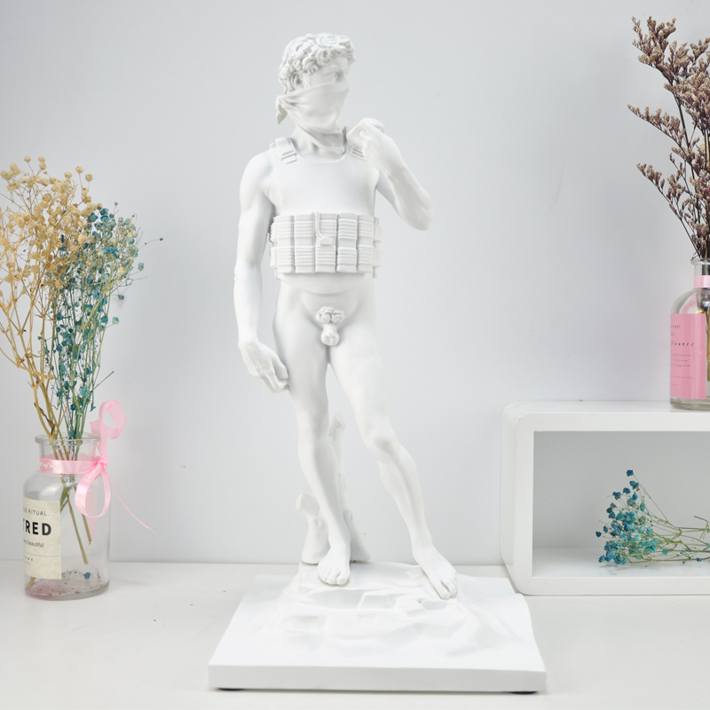Banksy Suicide David Statue Decoration Character Sculpture Street Abstract Art Home Decoration