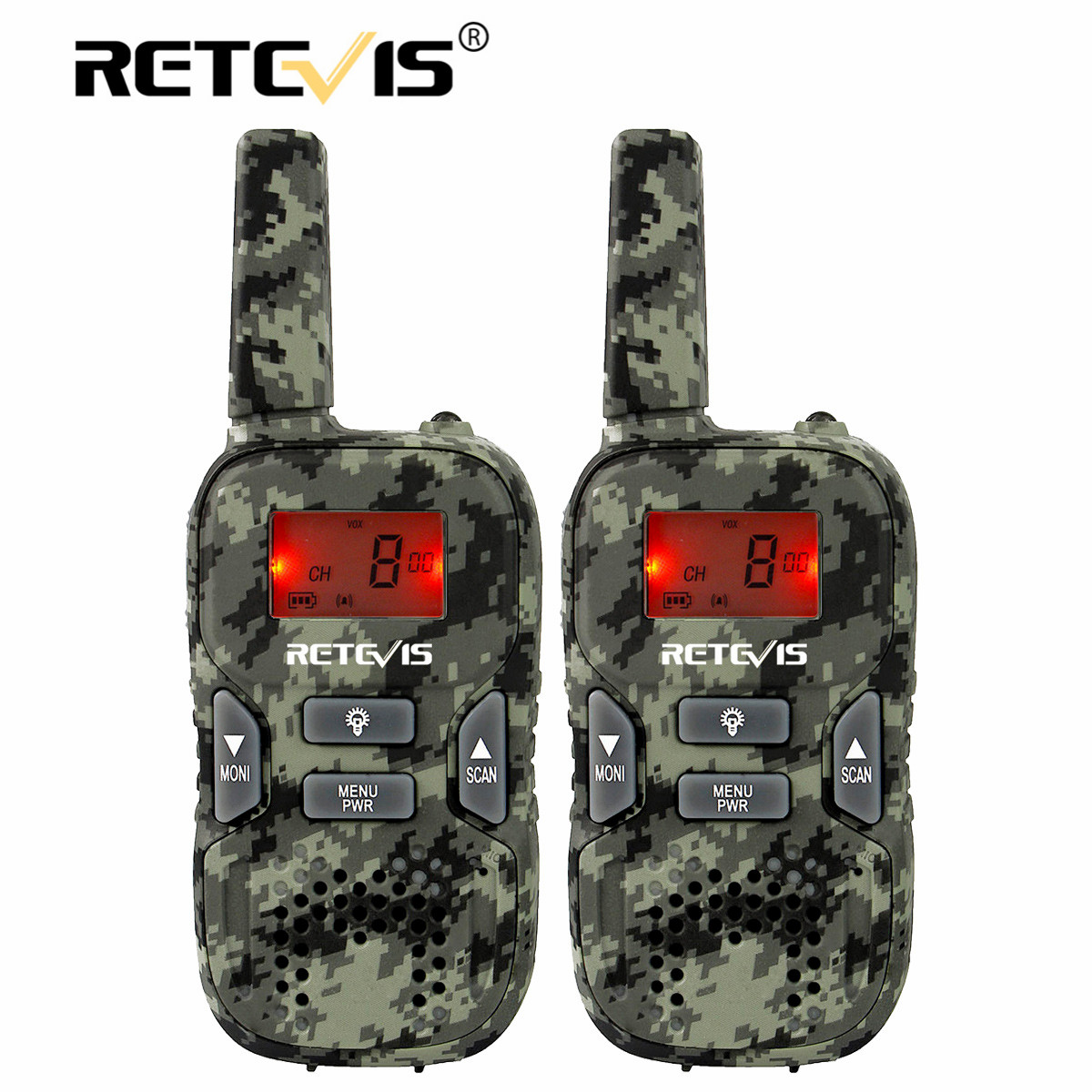 Портативная мини-рация Retevis RT33 для детей 2 шт. двухстороннее радио 0,5 Вт PMR PMR446 Woki Toki с фонариком VOX