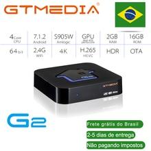 Brazilian GTmedia Android 7.1 Smart TV BOX Amlogic S905W 2G