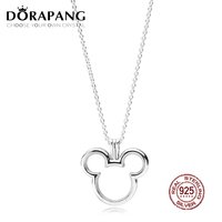 DORAPANG 2018 Newest 100% 925 Sterling Silver Lovely shaped Floating Locket Pendant Necklace for Women Fashion Jewelry Wedding
