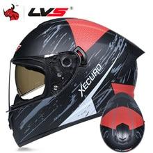 Lvs 2020 Integraalhelm Motorfiets Casco Moto Motocross Riding Racing Helm Off Road Capacete Moto 3 Kleur Lens Dot goedgekeurd