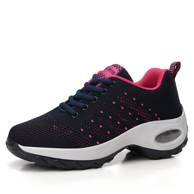 Women Sneakers Mesh Running shoes Ladies Walking Dancing Sport Shoes Outdoor Air Cushion Breathable Footwear Lace up Sneakers Running Shoes     - title=