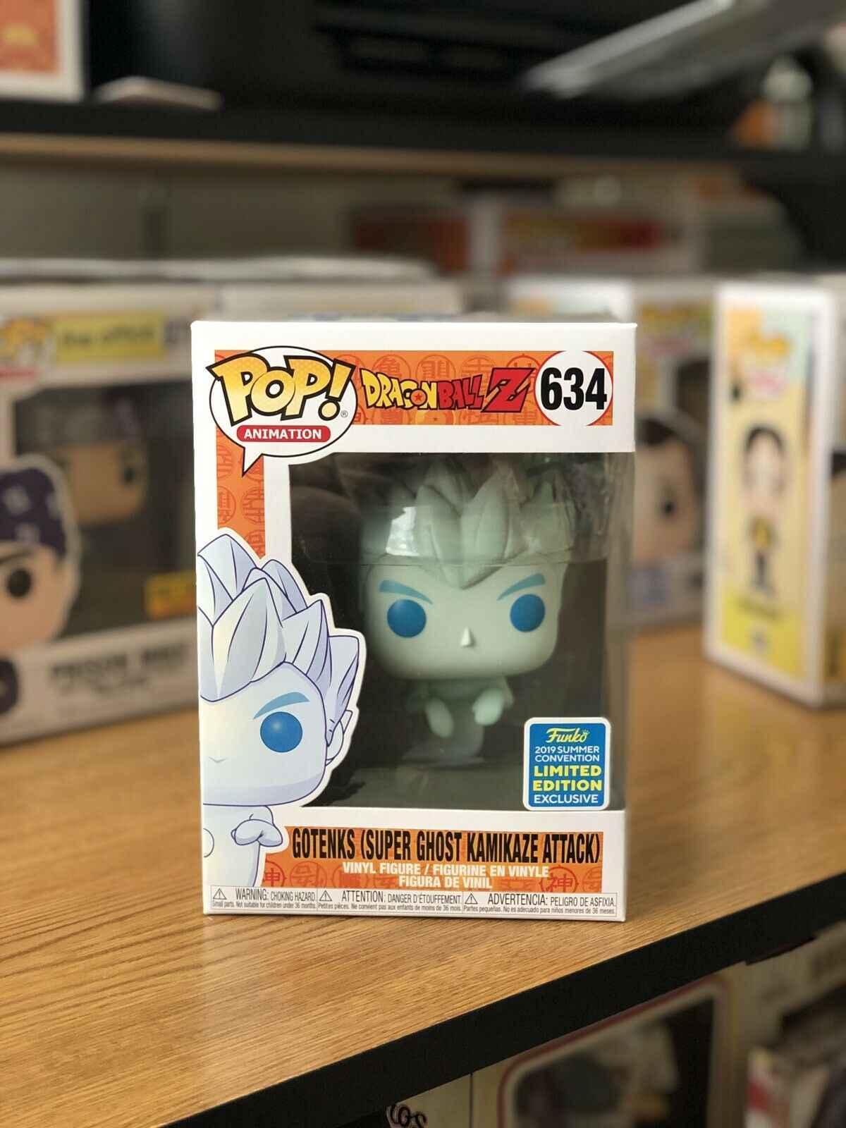 2019 Funko pop Oficial SDCC Exclusive Dragon Ball Z-Gotenks como Fantasma Kamikaze Vinyl Figure Collectible Toy Modelo Na caixa