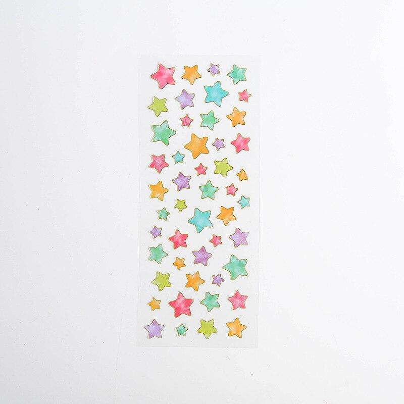 Корейские милые наклейки, штампованные прозрачные DIY дневник, ручная книга, материальное украшение, паста, детские маленькие наклейки, креативные - Цвет: 7