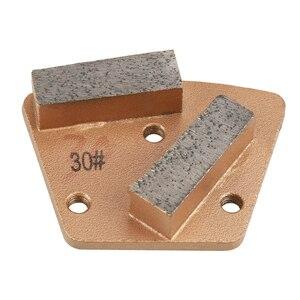 Трапециевидные металлические алмазные бетонные шлифовальные диски для шлифовальной машины 30(3 отверстия 2 прямые зубья)