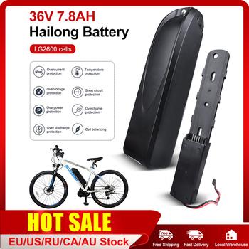 E-bike HaiLong bateria 36V 7 8Ah na rower elektryczny akumulator litowo-jonowy bateria z USB Port dla BBS02 BBSHD centrum połowy silnika tanie i dobre opinie CN (pochodzenie) 10ah 36 v Bateria litowa One Year 36V 48V 500W 750W 1000W ≥800 cycles ≥95 0 to 45°C -20 to 65°C