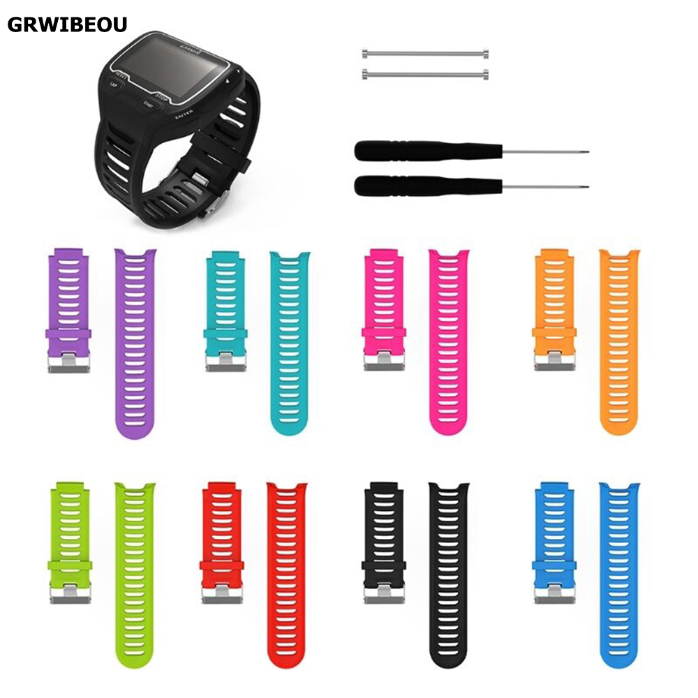 Applicable <font><b>Garmin</b></font> Forerunner <font><b>910XT</b></font> smart watch silicone replacement wristband with utility knife image