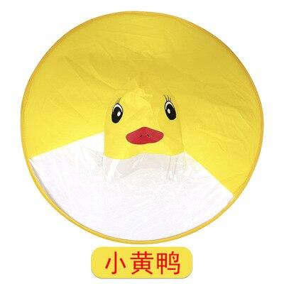 PPXX Yellow Duck Cartoon Children Raincoat Jacket Waterproof Outfit Rain Cover Baby Kids Poncho Cloak 5