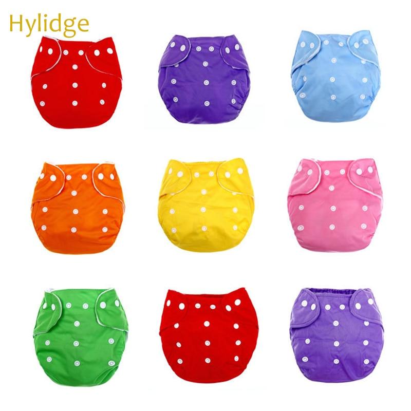 Hylidge Reusable Nappies Infant Children Underwear Washable Baby Cotton Training Pants Breathable Leak-proof Newborn Baby Diaper