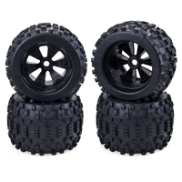 4Pcs 170mm Wheel Rim and Tires for 1/8 Truck Traxxas HSP HPI E-MAXX E-Revo ZD Racing RC Car Accessories