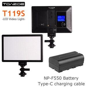 Image 1 - TOAZOE T119S Ultra thin LED Video Light Photography Fill Light 3300K 5600K CRI95+ for Canon Nikon Sony Panasonic DSLR Camera