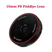 Объектив Rock Star RockStar 10 мм F8 «рыбий глаз», фиксированный фокус, Ультра широкоугольный микро для Sony E Fuji X M4/3 Canon Eos M Nikon Z, крепление