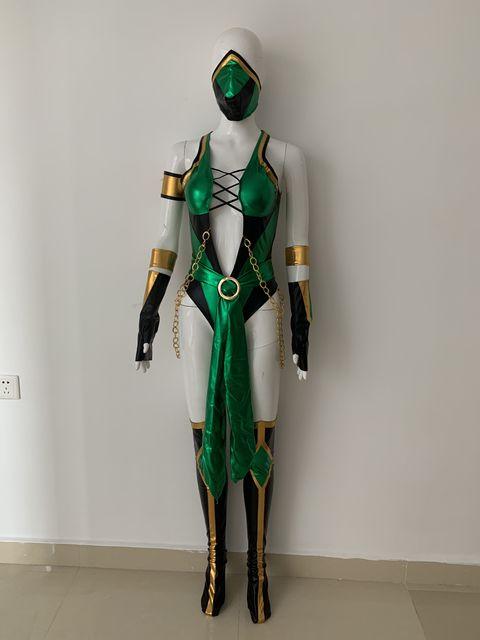 Video Game Morta Kombat X Cosplay Jade Costume Custom Made 1