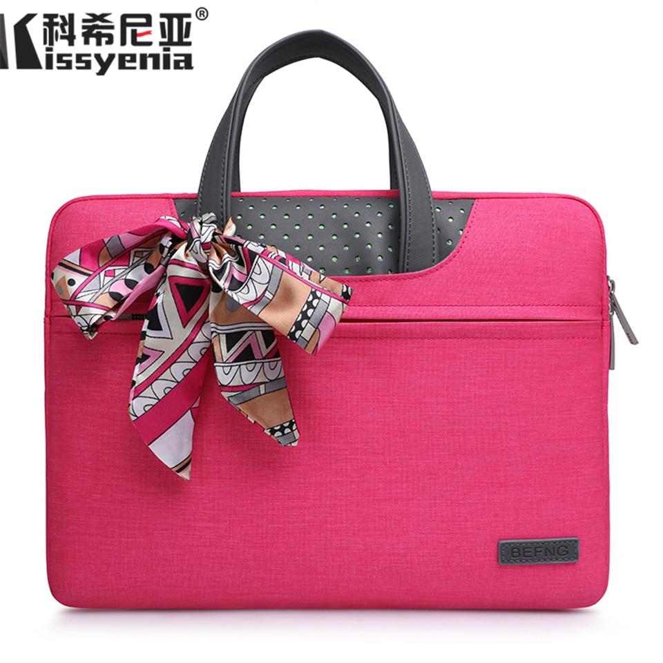Kissyenia Waterproof Macbook Cover Light 13 14 15inch Laptop Case Flight Handle Bags Business Travel Computer Briefcase KS1362