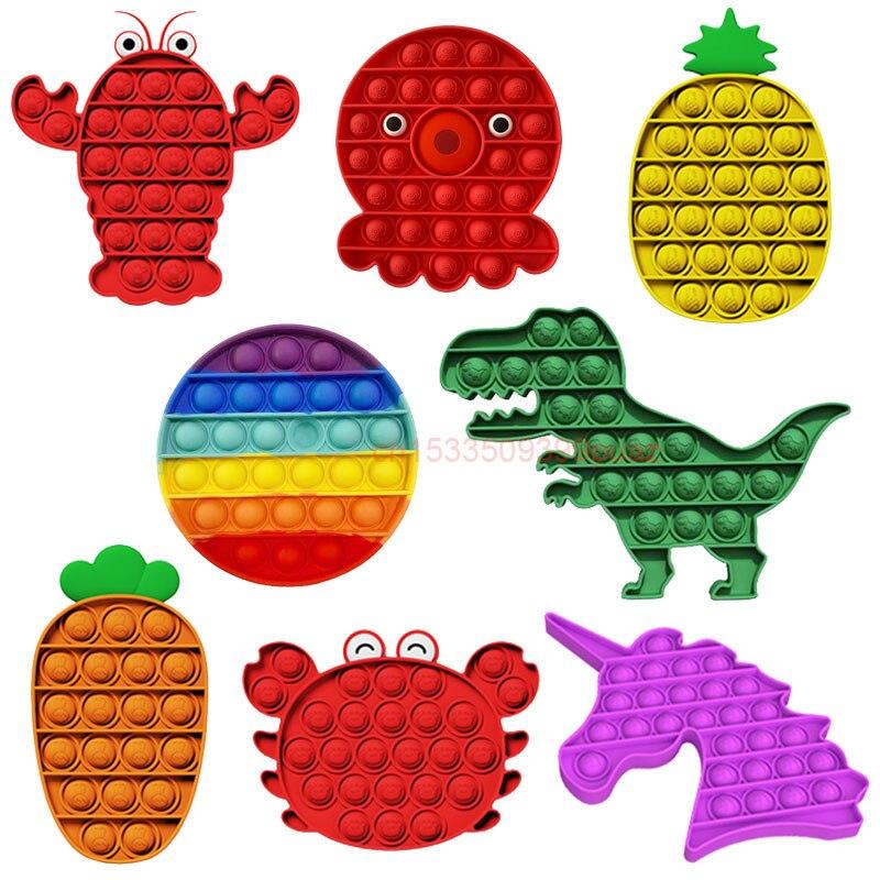 Игрушки-антистресс в форме осьминога с пузырьками, популярные сенсорные игрушки-антистресс, настольные игры для снятия стресса с простого ...