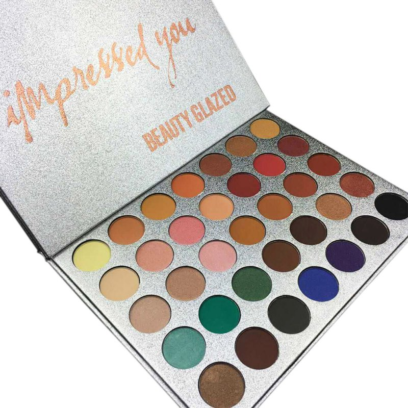 Chic 35 Color New Face Makeup Eyeshadow Palette Shades Shimmer Matte Eyeshadow Pallete Cosmetics For Morphes Style.w