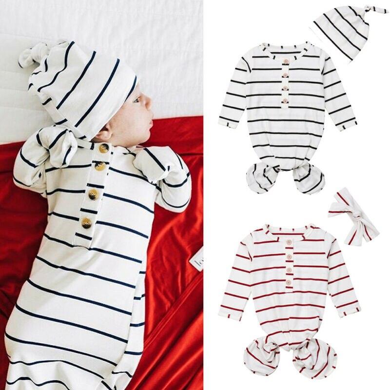 Newborn Infant Baby Crib Sleeping Bag Wrap Swaddle Bathrobe Cover Baby Clothes Hat Headwear 2pcs