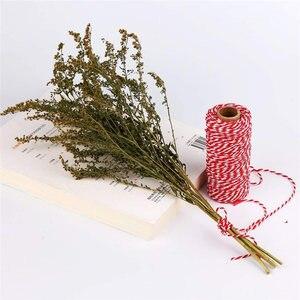 Image 4 - DIY Handmade nić bawełniana 1 rolka 100 metrów wysokiej jakości sznur czerwona biała karta wisząca lina prezenty pakowanie sznurka sznurek