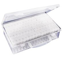 Transparent Plastic Box Organizer Medicine Case Diy Diamond Embroidery Storage Case Diamond Painting Tool Accessories fullcang diy 5pcs full square diamond embroidery horror movie 5d diamond painting cross stitch mosaic needlework kits sale d907