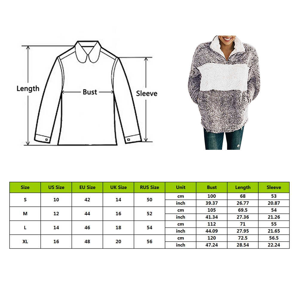 CYSINCOS moda bluza z kapturem bluza kobiety Faux futro puszyste Teddy swetry jesień Colorblock, minimalistyczne ciepłe Top Femme płaszcz kurtka